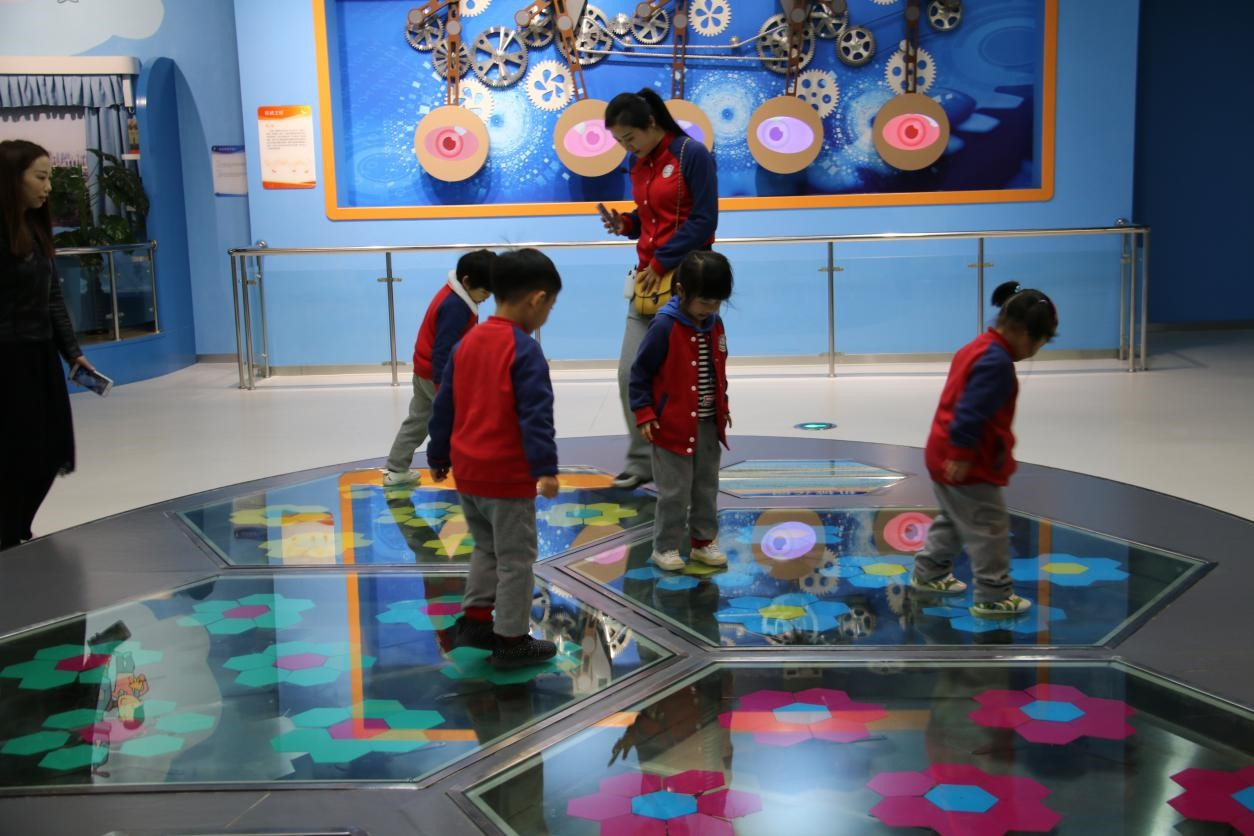 滁州市未来之星幼儿园组织参观市科技馆